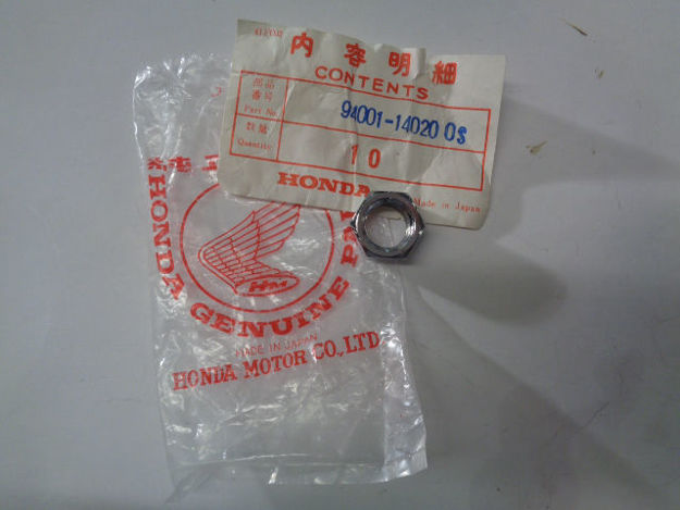 Picture of NOS Honda 14mm Chrome Hex Nut 1979-1980 CBX CL125 CB175 CA175 94001-14020-0S , 1 styck