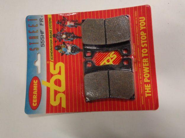 Picture of SBS Brake pads/bromsbelägg 555HF FRONT/555.S Ceramic Street