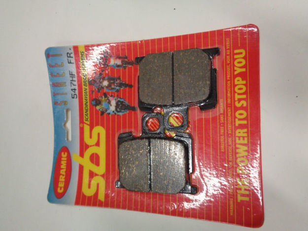 Picture of SBS Brake pads/bromsbelägg 547HF FRONT/547.S Ceramic Street