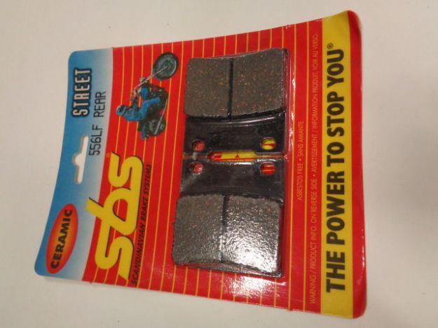 Bild på SBS Brake pads/bromsbelägg 556LF REAR/23-555LF.S Ceramic Street