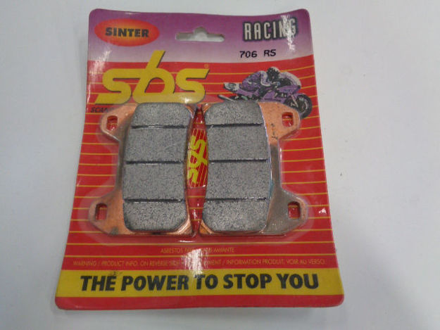 Picture of SBS Brake pads/bromsbelägg 706RS FRONT/706RS.S Sinter Racing